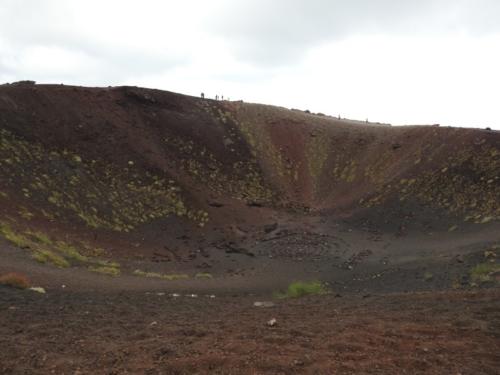 Bunden af en tidligere aktiv krater.